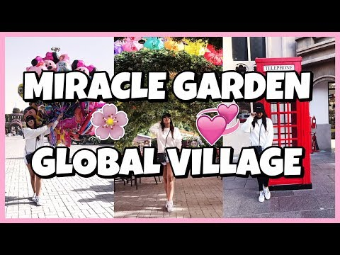 Dubai Travel Vlog- Miracle Gardens, Global Village Dubai