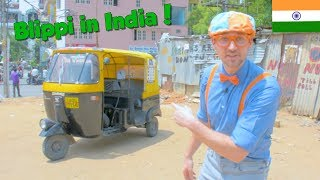Blippi in India | Learning About the Rickshaw Tuk Tuk for Kids