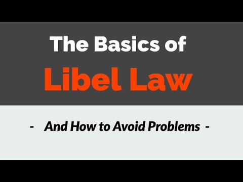 Basic Libel Law
