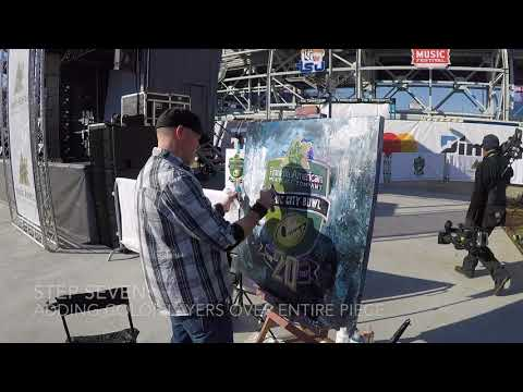 Live Painting at the 2017 Music City Bowl in Nashville, TN