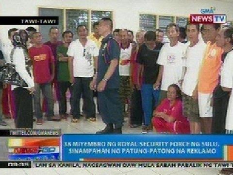 NTG: 38 miyembro ng Royal Security Force ng Sulu, sinampahan ng patung-patong na reklamo