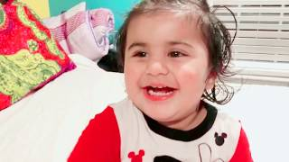NEW Cute Baby Laughing, Funny Baby won't let go of bag- Sahej & Anjali
