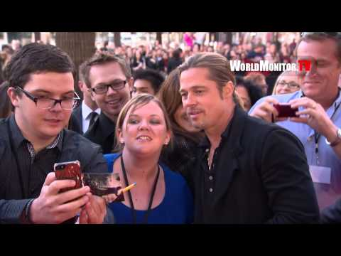 Brad Pitt showing Mad Love for the fans at 'World War Z' Australian Premiere