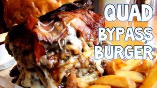 Eating A Quadruple Bypass Burger In 1:05   Furious Pete