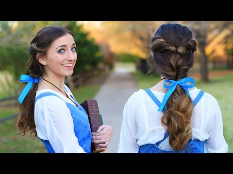 EMMA WATSON Belle Ponytail Hair Tutorial | Beauty and the Beast Hairstyles 🌹