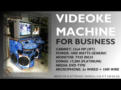 Videoke Karaoke Machine For Business 12x4 VIP 1000watts - Berklyn Electronics