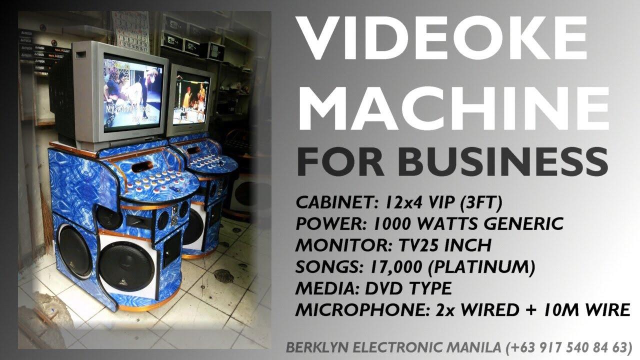 Videoke Karaoke Machine For Business 12x4 VIP 1000watts  Berklyn Electronics  YouTube