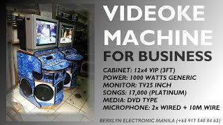 Videoke Karaoke Machine For Business 12x4 VIP 1000watts - Berklyn Electronics
