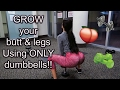 LEG & BUTT WORKOUT USING ONLY DUMBBELLS/ HOME OR AT THE GYM EXERCISES
