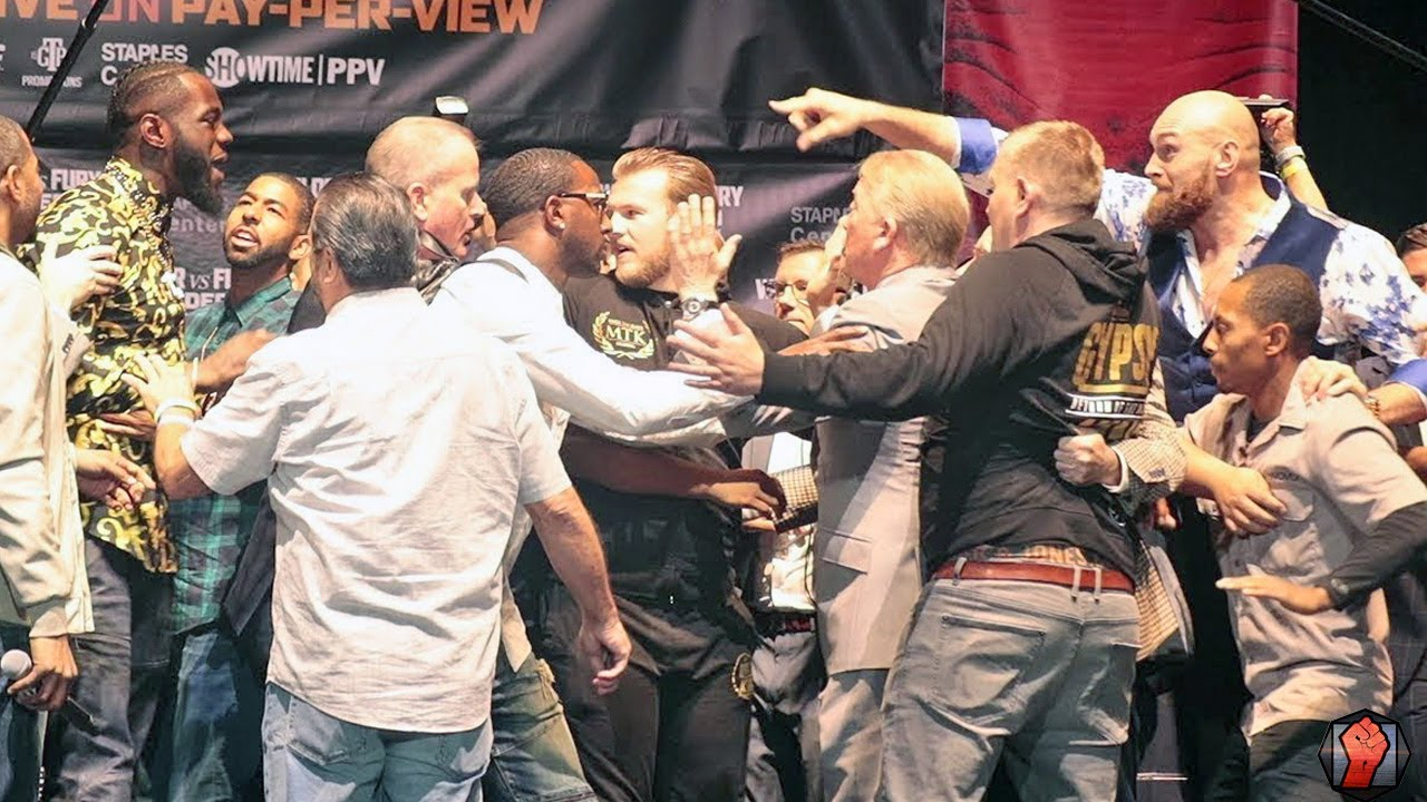 Download OH CRAP! DEONTAY WILDER & TYSON FURY NEARLY BRAWL IN LOS ANGELES AT FINAL PRESSER!