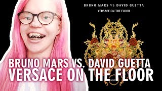 BRUNO MARS VS DAVID GUETTA VERSACE ON THE FLOOR (REACTION) | Sisley Reacts
