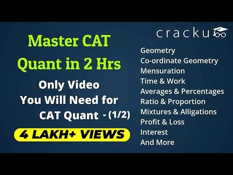 Complete CAT Quantitative Aptitude Revision Part-1