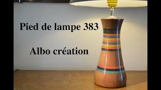 Création pied de lampe 383. Valchromat