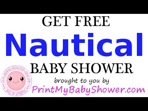 Nautical Baby Shower Games, Decorations And Invitations