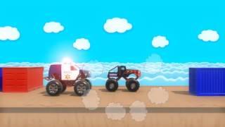 Полицейская машина с мигалками догоняет преступников  Игра про полицейскую машин