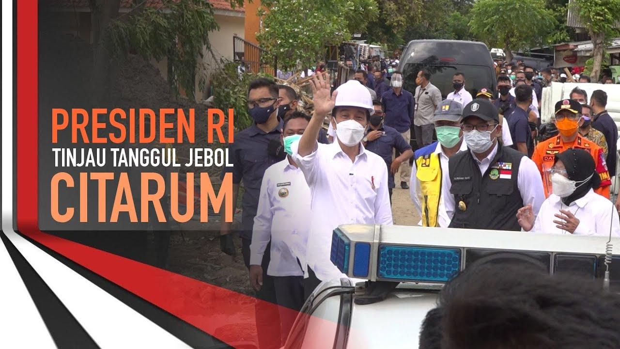 Presiden RI Tinjau Tanggul Jebol Citarum
