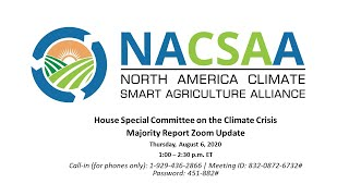 Solutions from the Land: HSCCC Climate Majority Report (NACSAA Update 8/6/2020)