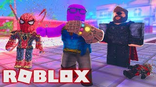 BECOMING THANOS IN SUPERHERO SIMULATOR FOR $5000 ROBUX!! The Avengers: End Game
