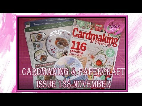 Cardmaking & Papercraft Issue 188 November Magazine Review