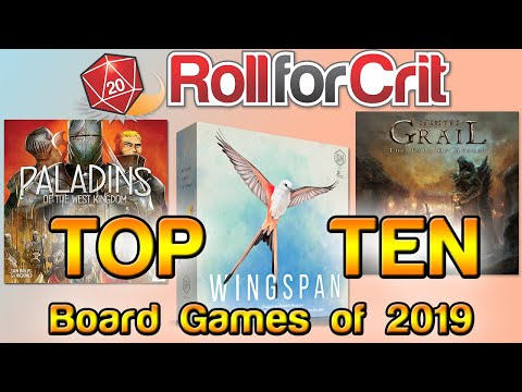 Top Ten Board Games Of 2019 | Roll For Crit