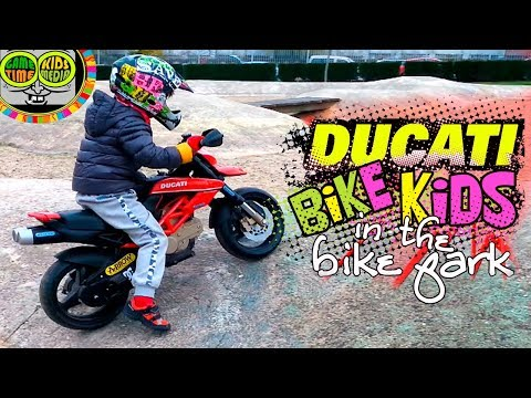 Electric motorbike for small children of toys, Peg Perego vehicles. Mini Battery Ducati.