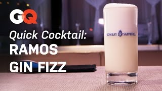 How To Make A Ramos Gin Fizz – Quick Cocktail – America's Bartender – Gq Magazine