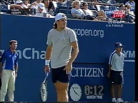 Hewitt vs Haas -  USO 2004 QF