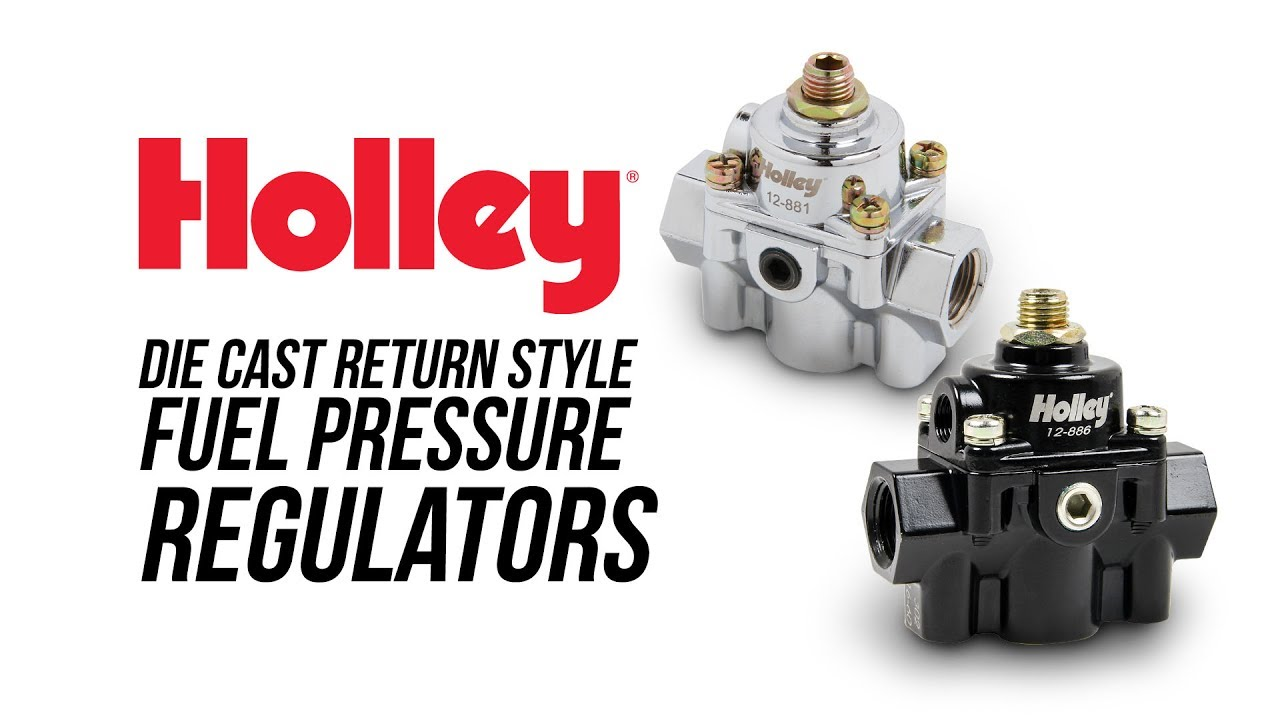 holley die cast bypass fuel pressure regulators [ 1280 x 720 Pixel ]