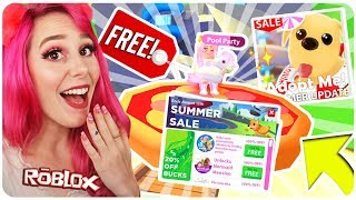 How to Get EVERYTHING for FREE In The New Adopt Me Update.. Roblox Adopt Me NEW SUMMER SALE Update