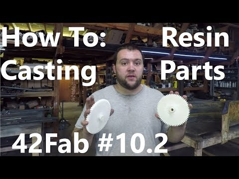How to Cast Resin in Silicone Molds (Part 2 - Casting) - 42Fab #10.2