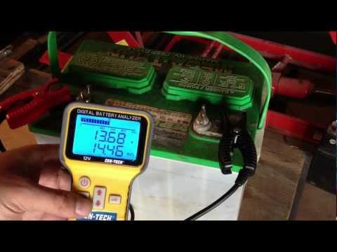Lead Acid Battery Desulfation Using Epsom Salt --First test after Charging  Part 3 of 6
