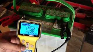 Lead Acid Battery Desulfation Using Epsom Salt --First test after Charging  Part 3 of 6
