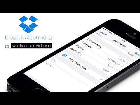 Week Calendar: Dropbox Attachments (iPhone & iPad)