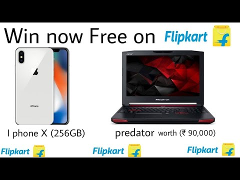 Win Free Laptop And I Phone X On Flipkart Now [Play And Win Simple Game]