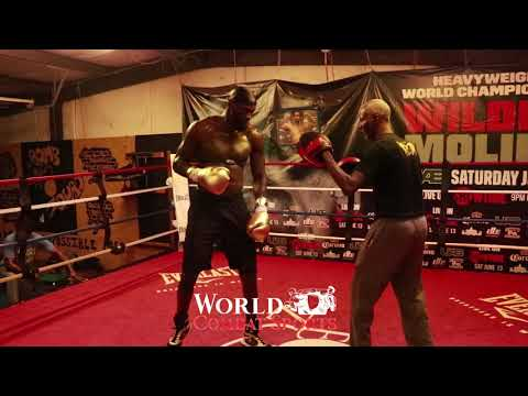 2019 Deontay Wilder intense training for 18th May fight destruction of Dominic Breazeale Part 2