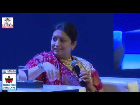 ThinkEDU 2020 - The New Woman: Power with Responsibility, Smriti Irani, Union Minister for Textiles