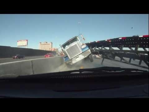 Close Call Truck Crash Las Vegas