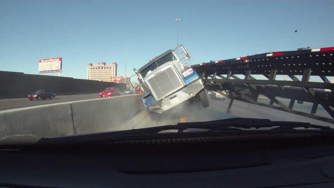 Las Vegas Car Accident >> Close Call Truck Crash Las Vegas - YouTube