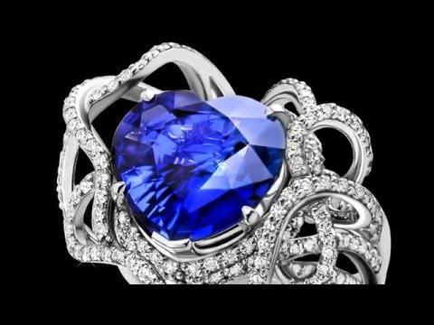 Ювелирные украшения с сапфирами и бриллиантами - Интернет магазин Kr8tiv.RU