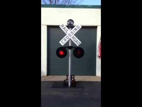 Vintage RailRoad Crossing Sign by Bernie's Restorations