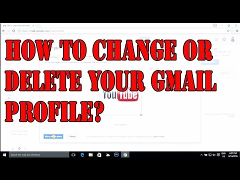 How to delete or change your gmail profile pictures - YouTube