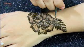 Gulf Stlye Rose Arabic Mehndi Design Full Stylsih Mehendi Design for Back Hand HENNA ART