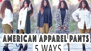 American Apparel Riding Pants: 5 Ways (Plus Size Edition)