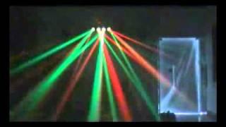 led 4 head light 25w rgby 256 bulbs dj stage m shaped