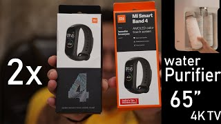 Xiaomi Mi Band 4 India unit unboxing, Mi Smart Water Purifier, Mi 65 inch 4K TV