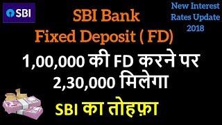 SBI Fixed Deposit Scheme | FD | Fixed Deposit Interest Rates 2018 | FD Calculator | 1 August 2018
