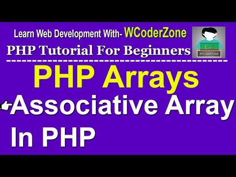 PHP Associative Array With Example - PHP Array Tutorial English