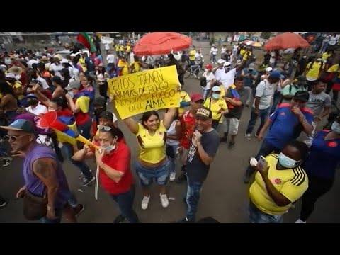 شاهد: السكان الأصليون يشاركون في مظاهرات مناهضة للحكومة في كولومبيا…  - نشر قبل 3 ساعة