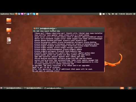 How to install the Kubuntu Desktop in Ubuntu 12.04