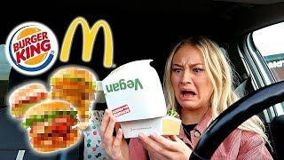 24 Stunden EXPERIMENT: NUR VEGAN Fast Food ESSEN! Geht das? ⎥ PIA